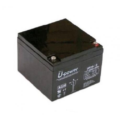 Batería AGM de 12V 26Ah C20 500 ciclos 175x166x125mm 8.7 kg