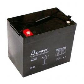 Batería AGM de 12V 80Ah C20 500 ciclos 260x168x212mm 25.4 kg